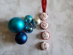Stitched Bottle Cap Ornament