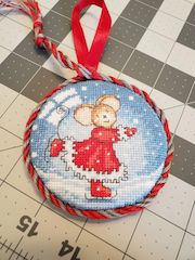 twisted cord stitched ornament