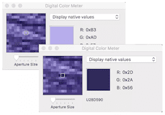 color varies based on the point sampled