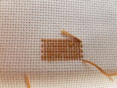 rear view half cross stitch
