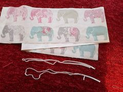 Fabric elastic cut to size