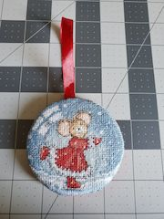 stitched ornament hanging padded