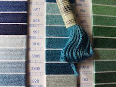 Real thread color chart DMC